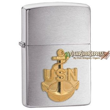 New Online Cigar Deal: United States Navy Emblem – $27.08 added to our Online Cigar Shop https://cigarshopexpress.com/online-cigar-shop/lighters/lighters-zippo-lighters/united-states-navy-emblem/ Zippo United States Navy Emblem is a beautiful tribute to our troops. A raised gold-toned emblem shines against Zippo's simple and classy Brushed Chrome finish. This ...