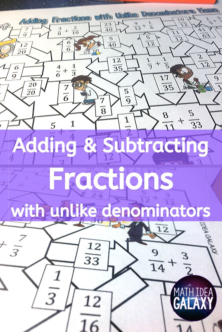 Adding And Subtracting Fractions With Unlike Denominators Subtracting Fractions Adding And Subtracting Fractions Adding And Subtracting Adding and subtracting fractions game
