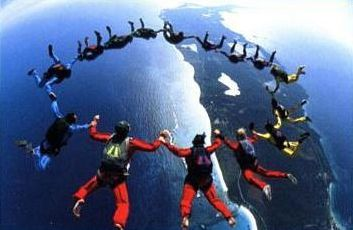Go skydiving with a group of strangers, and become best friends in mid-air. <3