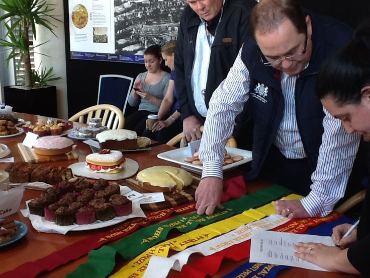 Judges busily tasting away