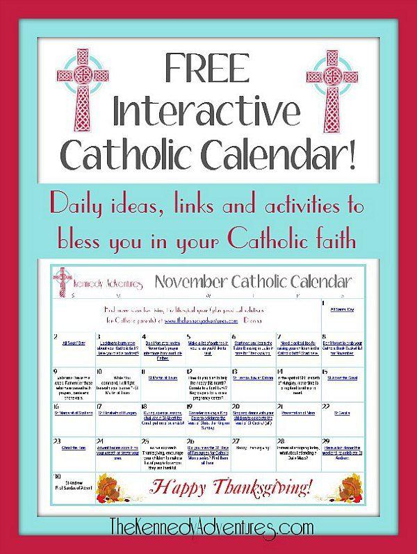 Calendar Ideas For November : November catholic family calendar ideas faith and