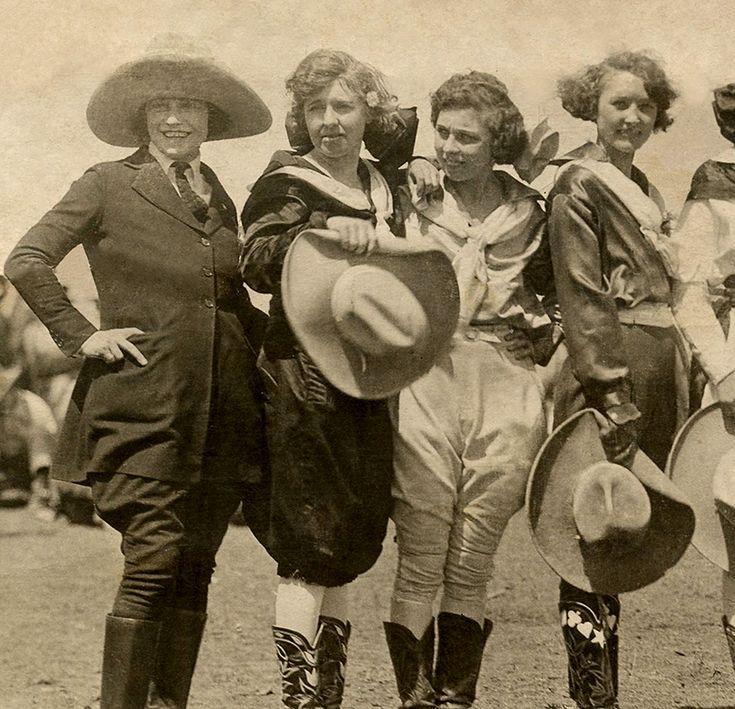 Amazing Vintage Cowgirls Photograph!