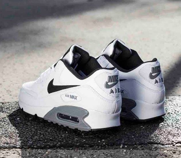 Nike Air Max 90 Essential Leather White Black Cool Grey By Nayia Ginn