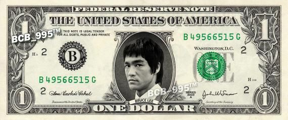 BRUCE LEE on a REAL Dollar Bill Cash Money Collectible Memorabilia Celebrity Novelty