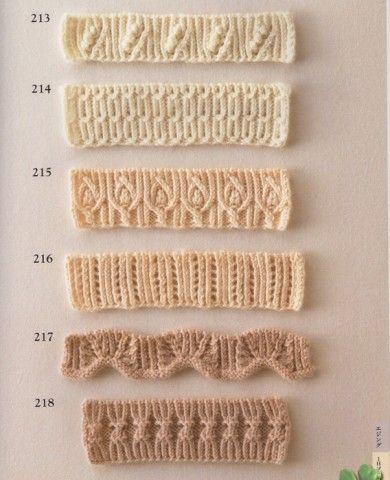 Коллекция красивых узоров для оформления края спицами - Сам себе волшебник