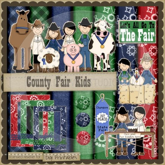 County Fair Kids 1 - Digi Scrap / Card Making Kit