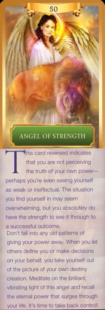 12/19/16Angel of Strength - Reversed meaning