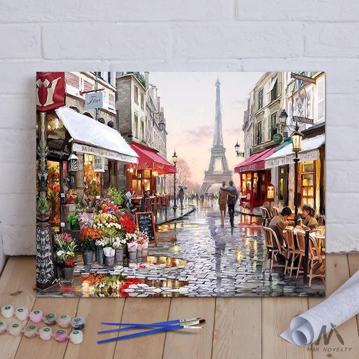 DIY Painting By Numbers Autumn Street (16 Diy painting