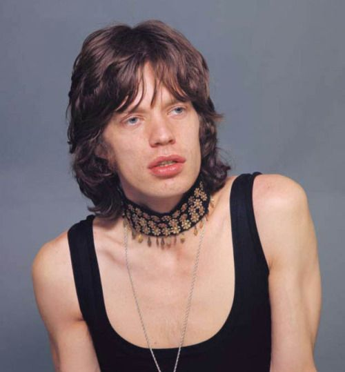 """glamourpigz: """" soundsof71: """" Mick Jagger in Paris, 1971, by Jean-Marie Périer """" i always think she looks moned """" Moned"""