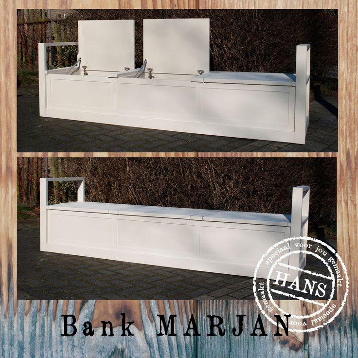"klepbank MARJAN, 260x50x42cm, 3 flaps, ""HANS"" made by (www.hansknepper.nl)"