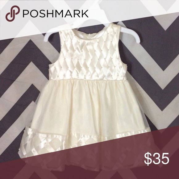 Cream Color Dress - 24 Months MATERIAL: 100% Polyester   CONDITION: Like New   CONCERNS: None   ⭐️ Feel free to ask questions or make an offer! ⭐️  📦 Next Day Shipping! Sunday - Thursday 📦 American Princess Dresses