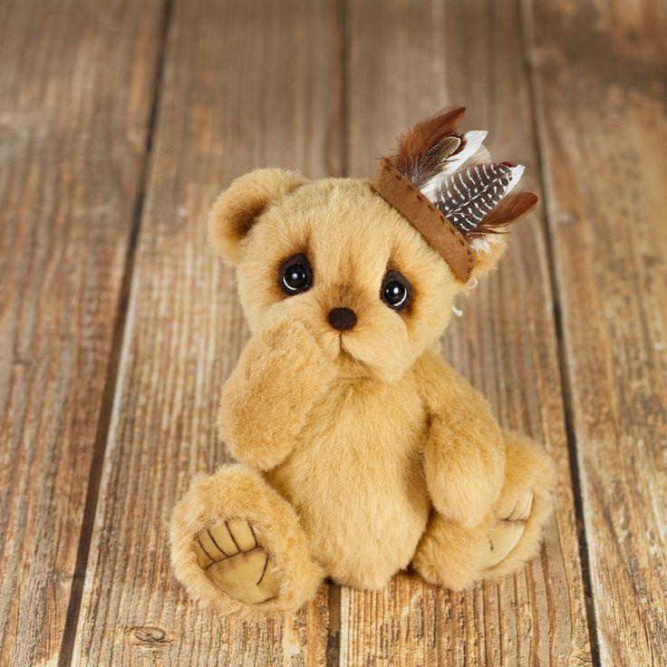 Artist collectible Teddy bear Naganigvanebi (Leading Feather) (OOAK) by TEDDYROOM on Etsy