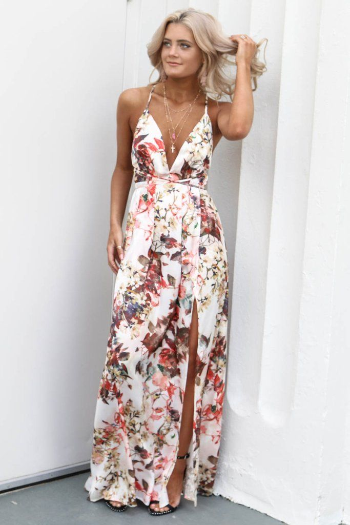 Second Guess Silky White Fl Maxi