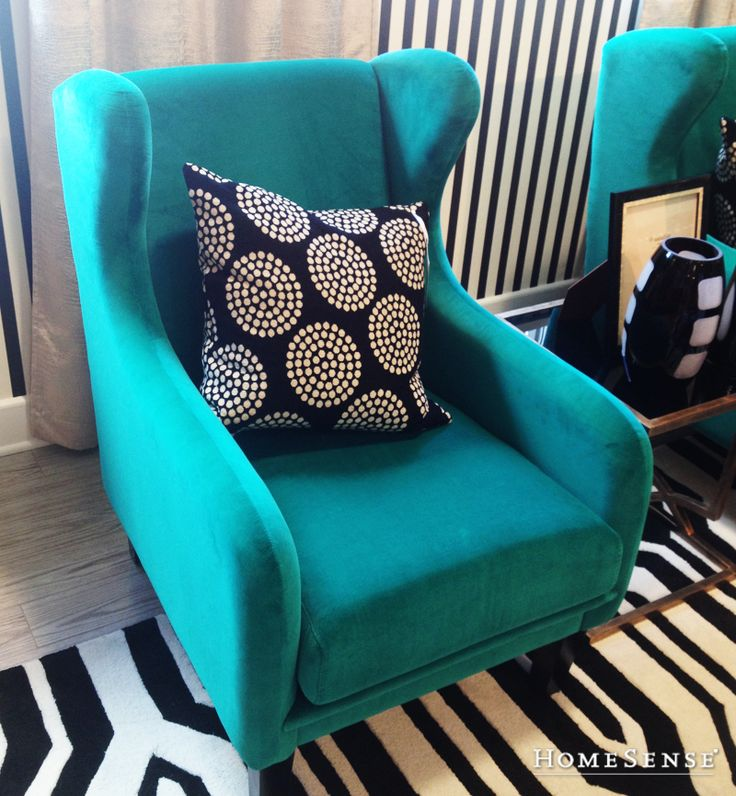 Add a pop of colour with a bold reading chair | HomeSense #HomeSenseStyle