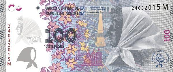 Matawang Argentina ( 100 Pesos ) .                   Nama Mata Wang:    Argentine peso.      Kod ISO 4217:    ARS.      Simbol:    $      N...