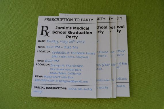 Better view of Prescription to Party invitations