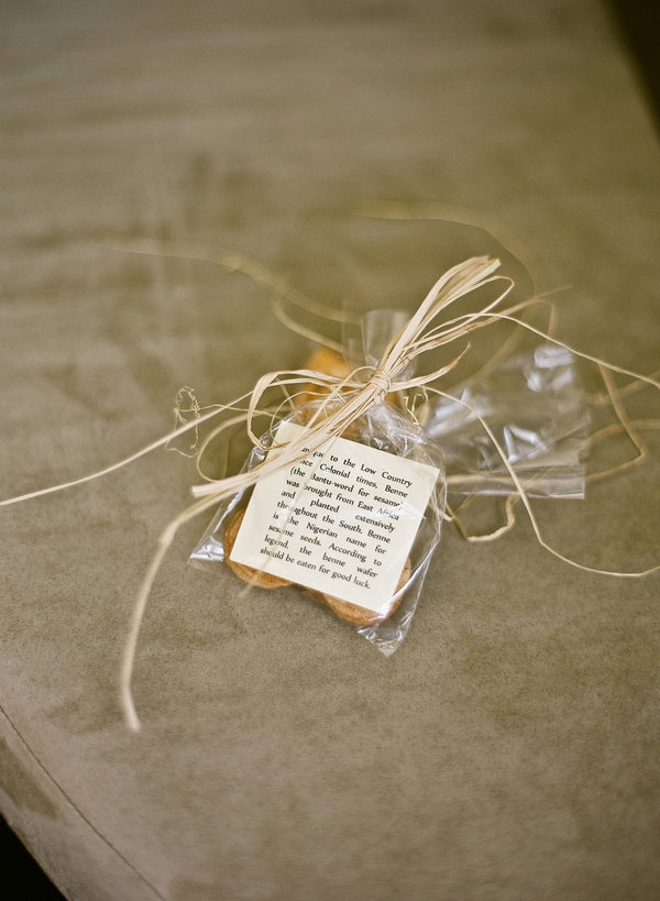 benne seed wafers...perfect favors for a Charleston wedding