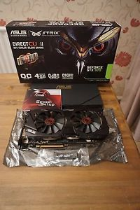 asus nvidia geforce gtx 970 4096 mb strixgtx 970dc2oc4gd5 tarjeta grafica - Categoria: Avisos Clasificados Gratis  Estado del Producto: UsadoWell looked after in good condition Comes with components in the picture ASUS Strix GeForce GTX 970 with factoryoverclocked core delivers cool and silent gaming experiences1253 MHz Boost clock for better performance and outstanding gaming experienceDirectCU II with 0dB fan technology lets you enjoy light games in complete silence, and hardcore gaming 30…