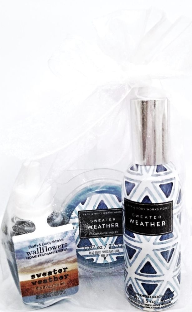 Bath Body Works Sweater Weather Wax Melt Room Spray Wallflower