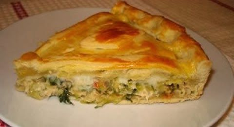 Receita Torta de frango de massa folhada | Receitas Vip - Receitas fáceis e rápidas