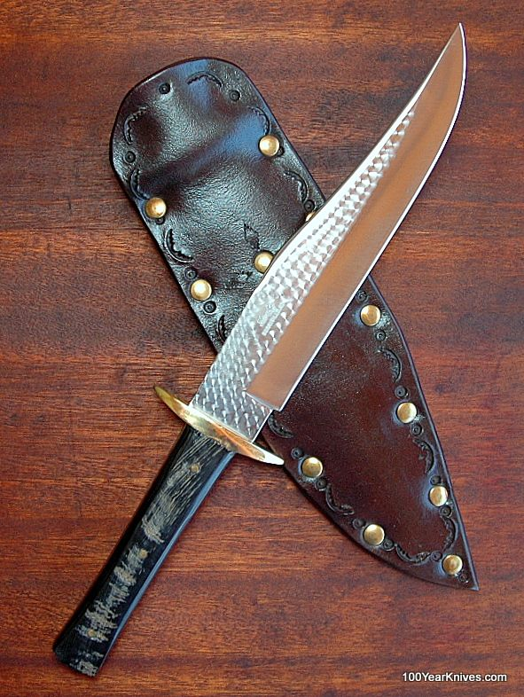 Bowie Knife – Buffalo Horn Handle – Red River Bowie – Butch Hanby