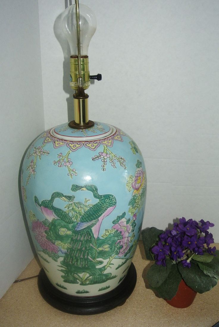 Chinese Ginger Jar Porcelain Table Lamp | Ginger jars, Tea