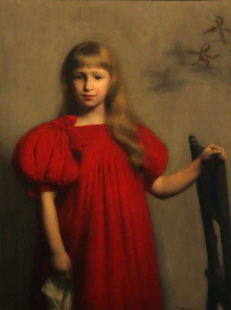 Jak malarze Józię malowali  Józef Pankiewicz, Portret dziewczynki w czerwonej sukience, 1897, Muzeum Narodowe Kielce