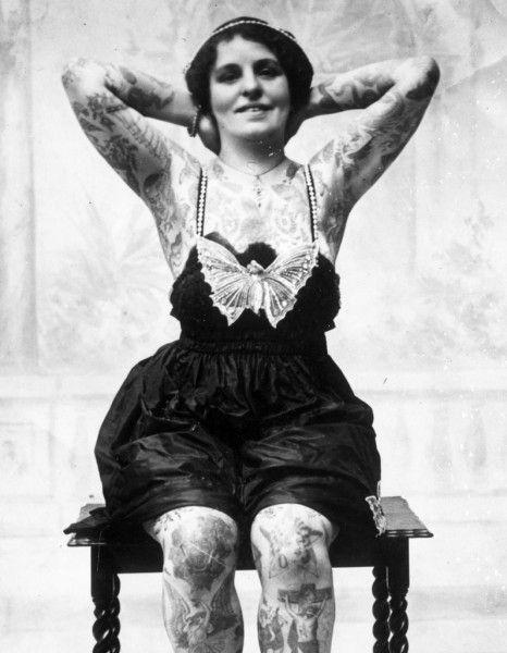 De 1880 à 1930, elles avaient déjà le tattoo dans la peau - Elle
