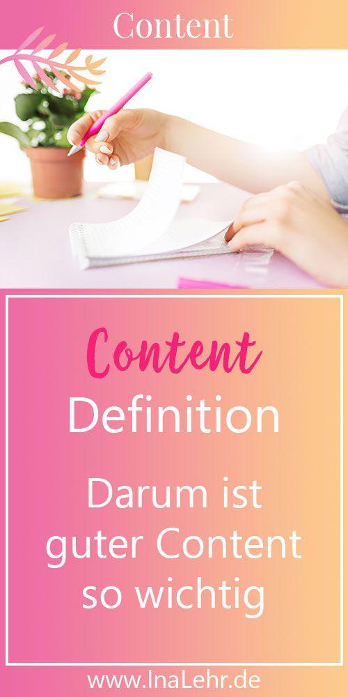 Content Definition Was Ist Content Content Bedeutet Inhalt Es