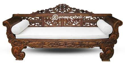 I absolutely love this gorgeous balinese daybed & I wan't one just like it (&  the cushions too)!