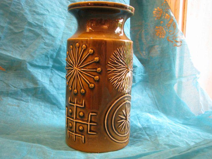 1960s Portmeirion Jar or Vase – Totem Green – Vintage Pottery Design – without cork lid – by S. Williams-Ellis 1963 – Mid Century von everglaze auf Etsy