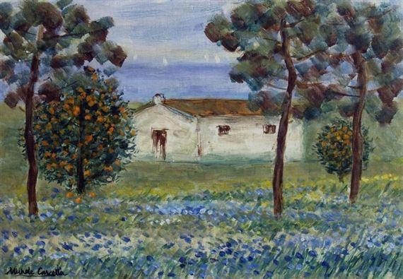 """Michele Cascella - """"Farmhouse in Abruzzo"""", Oil on..."""