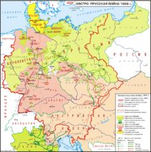 After the Convention of Gastein – Austria gets Holstein (nearer to Prussia), Prussia gets Schleswig. Bismarck knows that this solution will eventually lead to conflict with Austria.