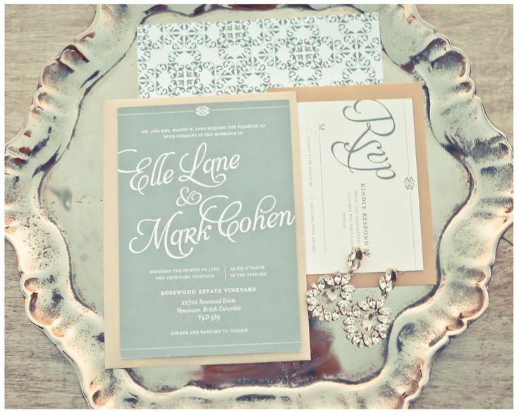 grayed jade colored wedding invitations