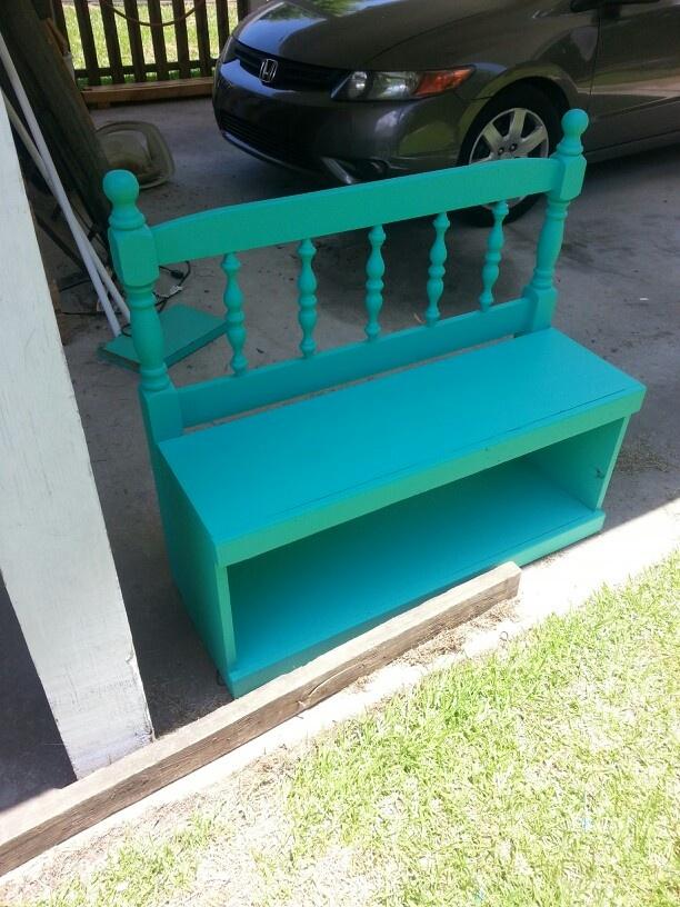 Purple Bedroom Bench: Purple Bookshelves