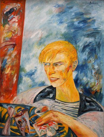 David Bowie 1987 Oil on Canvas 120x89cm By John Bellany