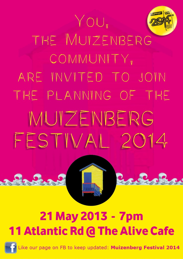 Real Community. Planning the Muizenberg Festival 2014.