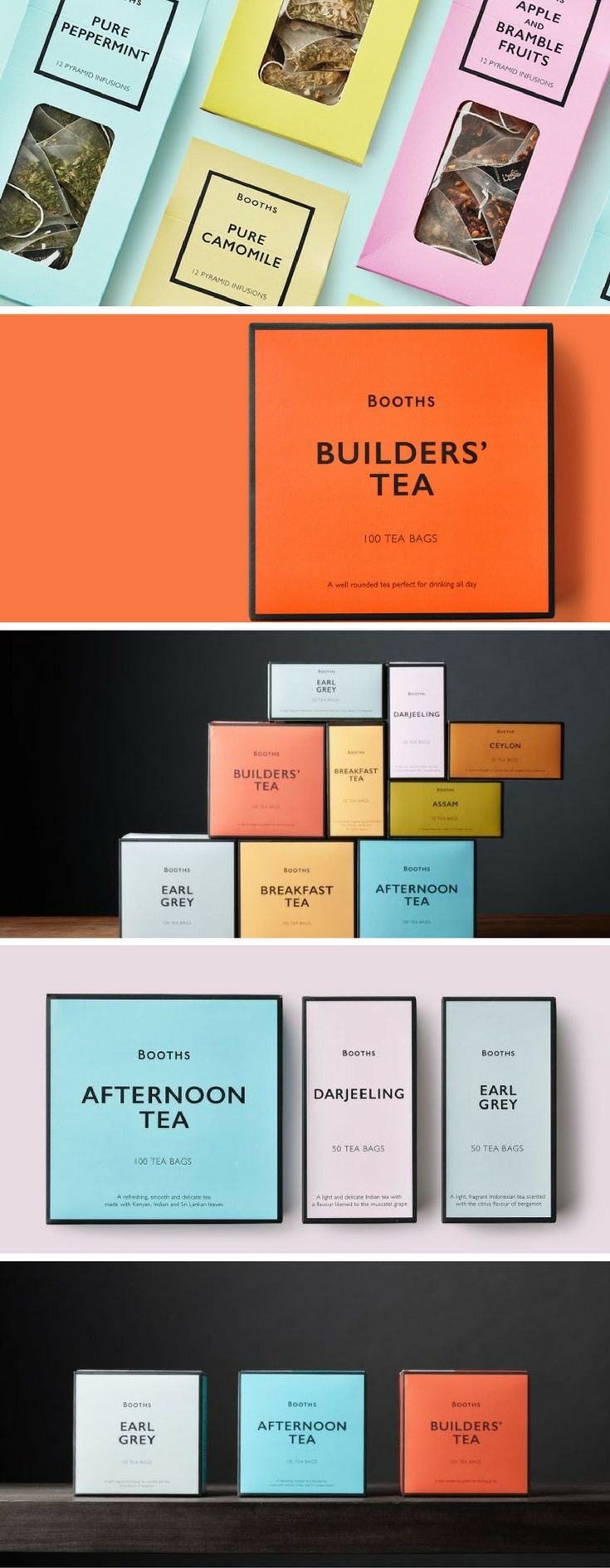 Booths Tea Range packaging by Smith&+Village