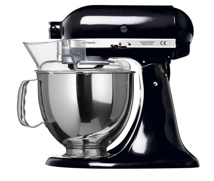 kitchenaid 5ksm150pseob artisan küchenmaschine schwarz