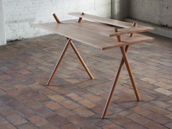 Bravais Desk by Dana Cannam. via rogerallen.net  nice clean wood design.