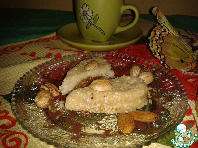 """Печенье без выпечки """"Осиное гнездо"""" - кулинарный рецепт"""