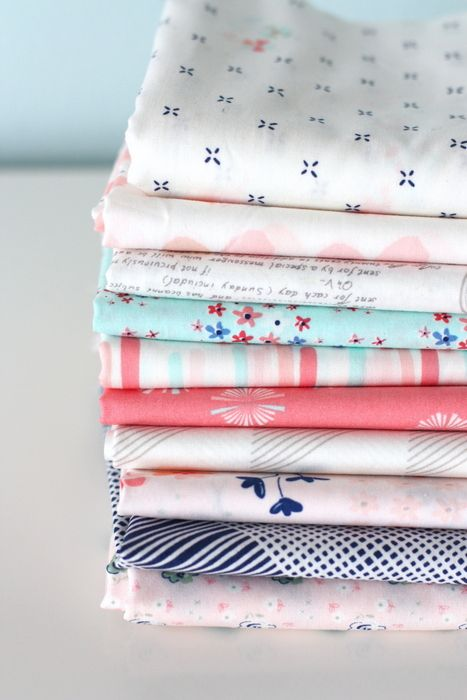 New Projects + New Fabric = a LOT going on. Super cute fabric collection. Art gallery fabrics for quilting and sewing! perfect for little girls quilt