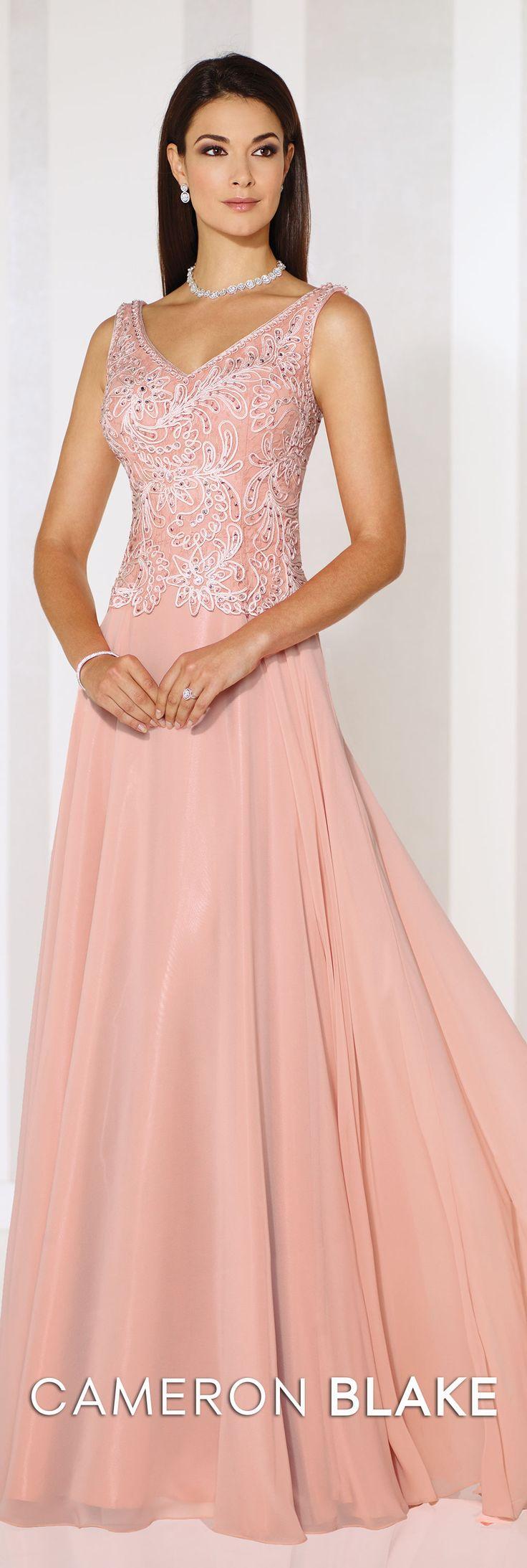 Cameron Blake Spring 2016 - Style No. 116654 #formaleveningdresses  Elizabeth Classica Necklace and Elizabeth Earrings www.davidtuteraembellish.com