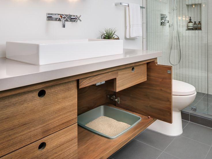 Best Custom Litterbox Ideas Images On Pinterest Animal House - Litter box in bathroom for bathroom decor ideas