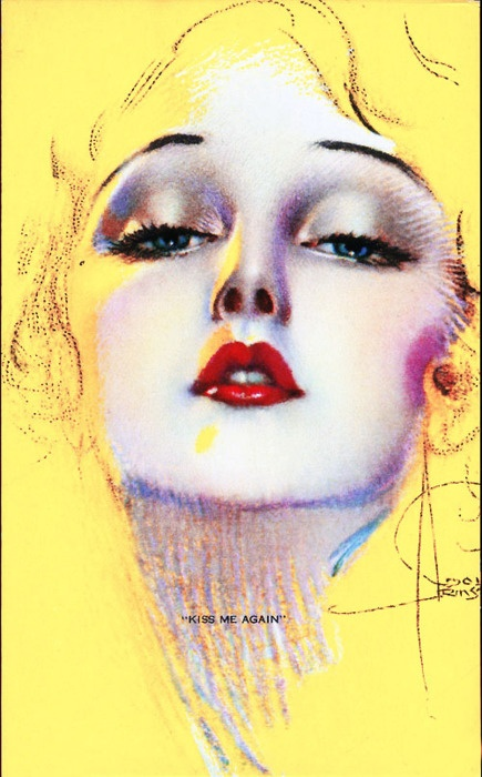 """""""Kiss Me Again"""" by Rolf Armstrong c. 1941"""