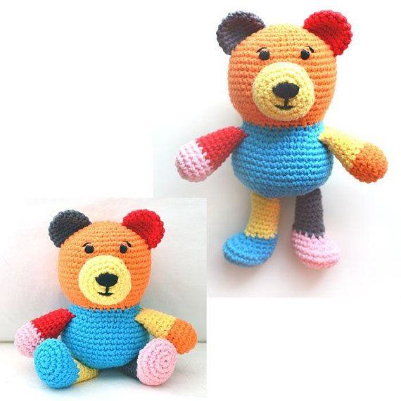 Scrap Yarn Teddy Bear – PDF Crochet Pattern – Instant Download