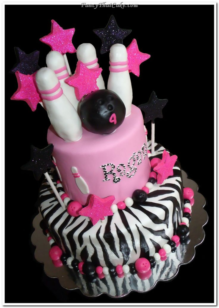 My daughters Birthday cake for her rock star bowling party! She is gonna love it!