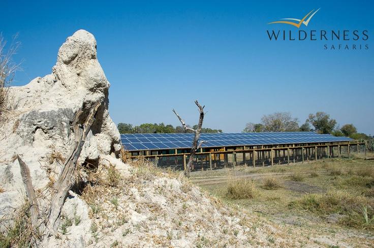 Xigera Camp - June 2011 saw Xigera turn off its diesel generators and become fully solar. #Safari #Africa #Botswana #WildernessSafaris