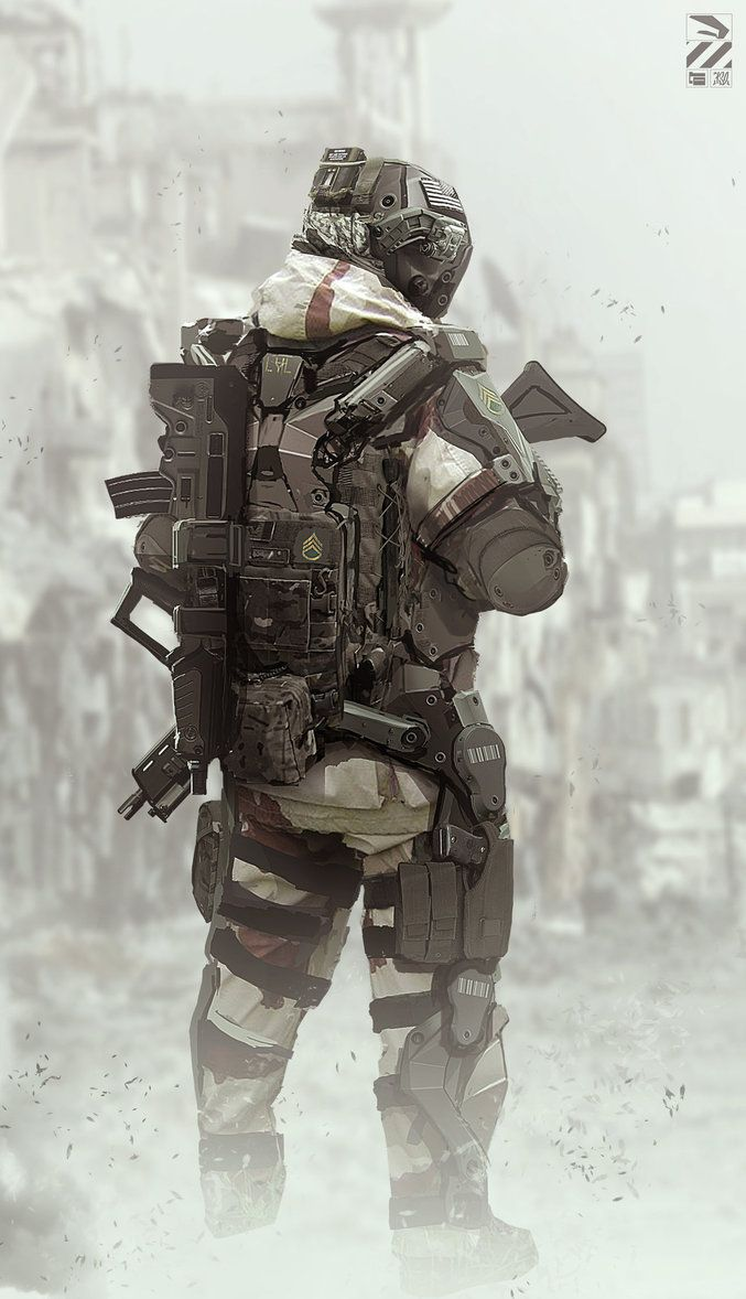 Exosuit. by duster132 on deviantART robot robots sci-fi soldier drone android science fiction cyberpunk future