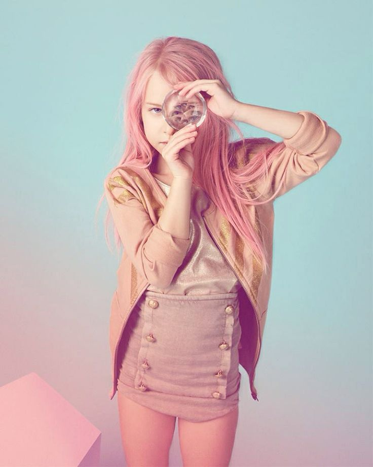 Pink hair: Colour Kids Photoshoot, Mélani Rodriguez, Kids Style, Pink Hair, Milk Magazine, Kids Fashion, Sea Punk, Melanie Rodriguez, Kids Clothing